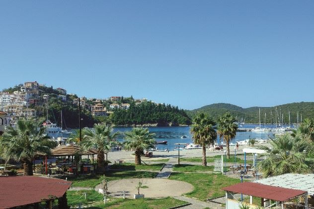 View from first floor, Evanti Apartments, Sivota