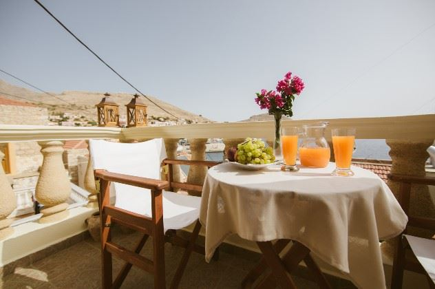 Patio, Antonis Villa, Halki, Dodecanese, Greece