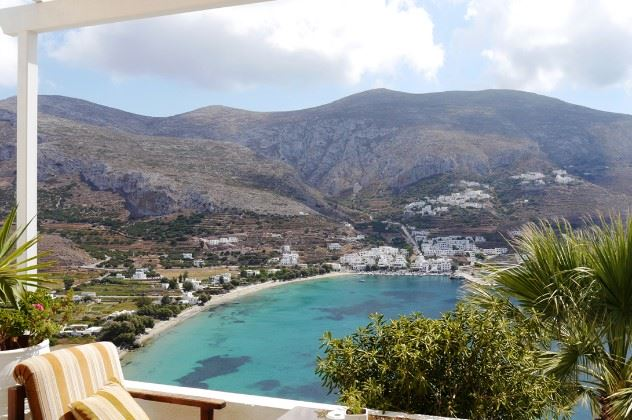 View from balcony, Aegialis Hotel, Amorgos