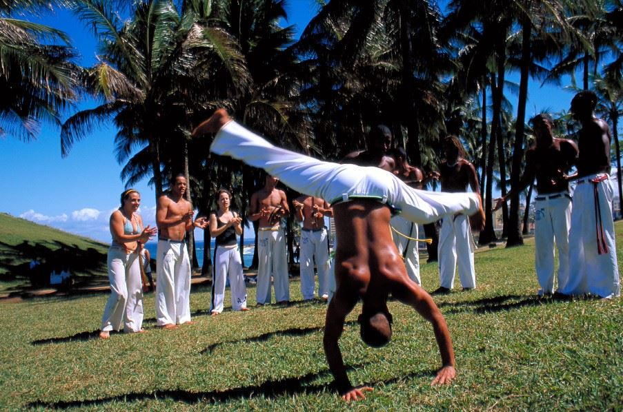 Capoeira (part martial art and part dance), Salvador