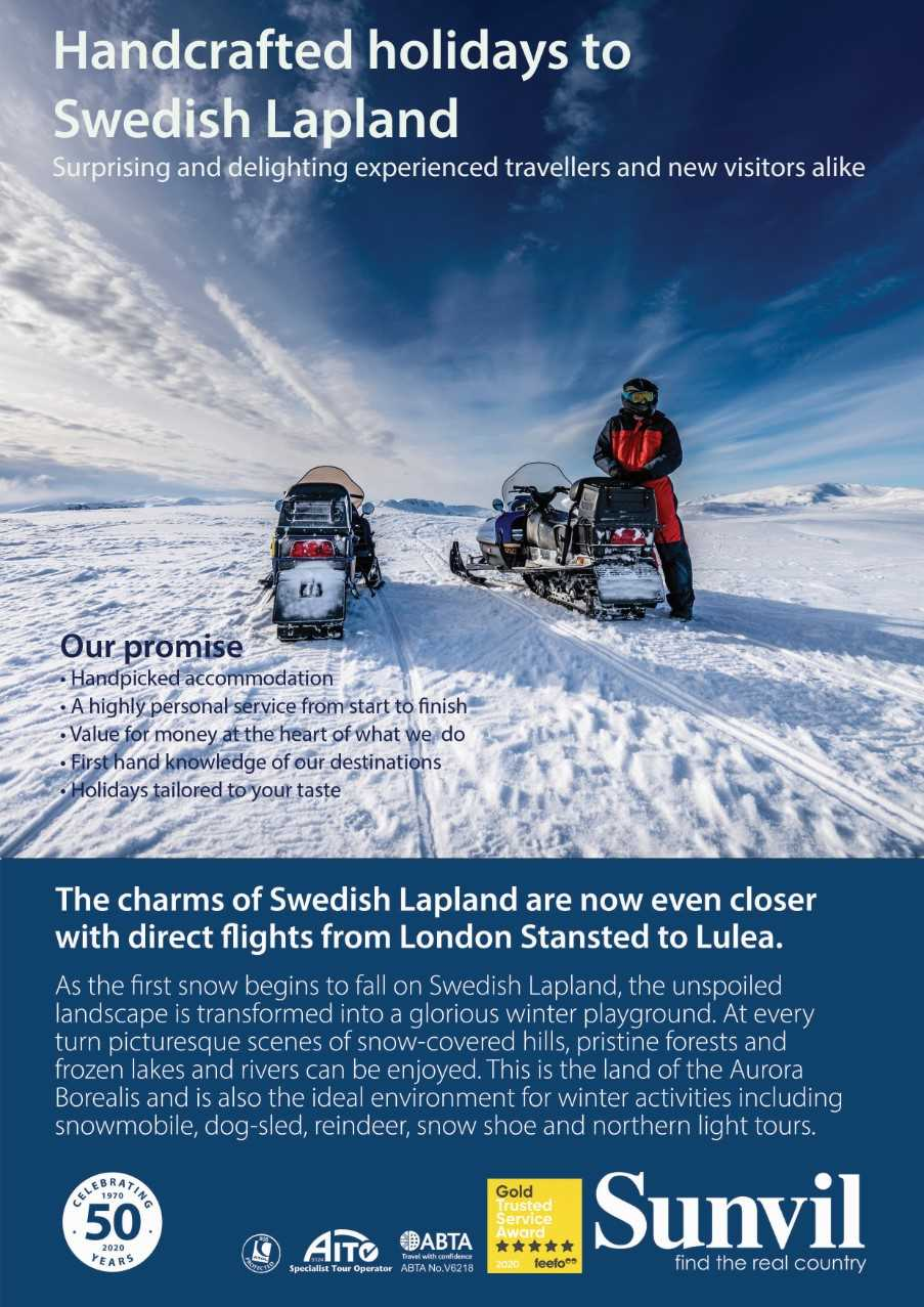 Fly direct to Swedish Lapland this winter