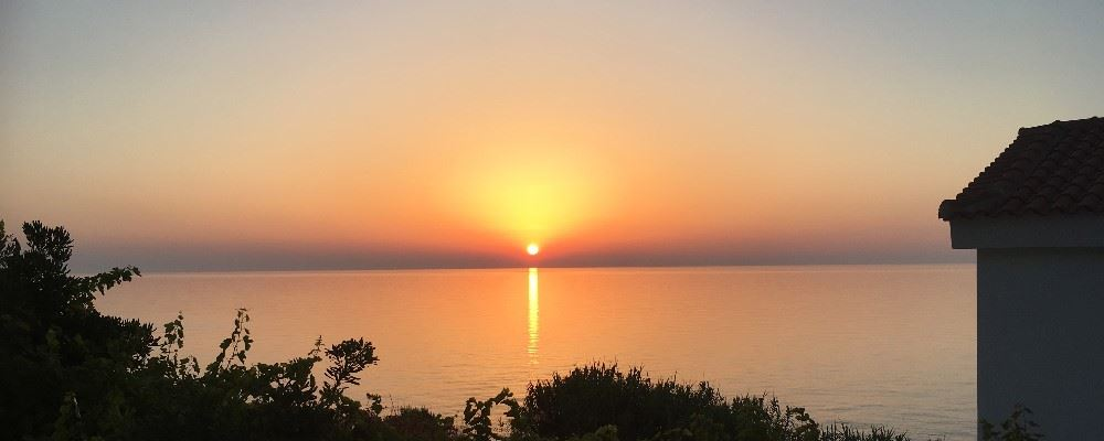 Sunset view from Muses Cottages, Ikaria