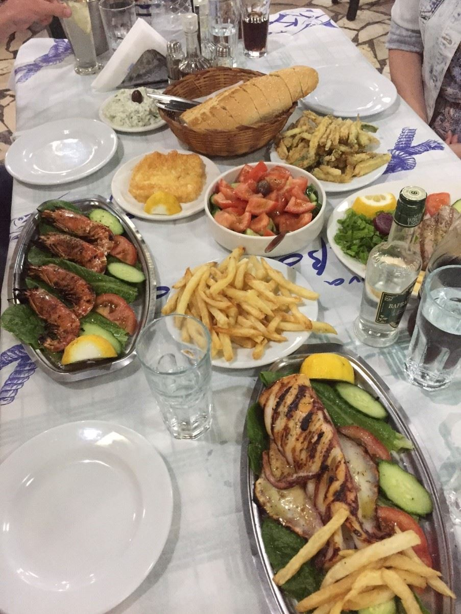 A traditional Greek meze