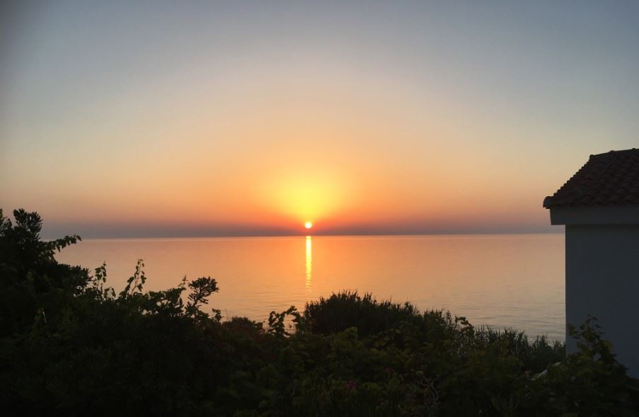Stunning sunset from Muses Cottages, Ikaria