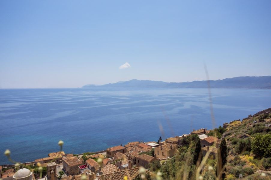 View from the top of Monemvasia