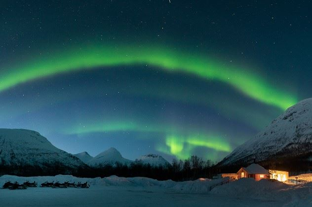 Northern Lights, Tromso Ice Domes, Northern Norway