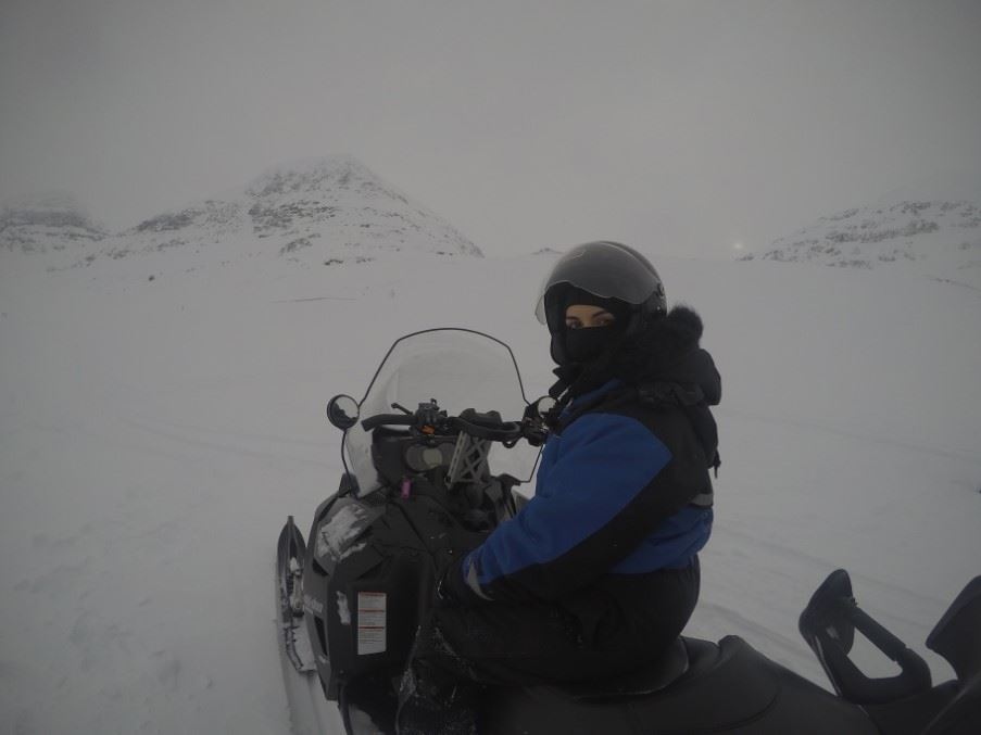Cristiana snowmobiling, Tromsø, Northern Norway