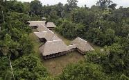 Aerial shot of Tambopata Research Centre