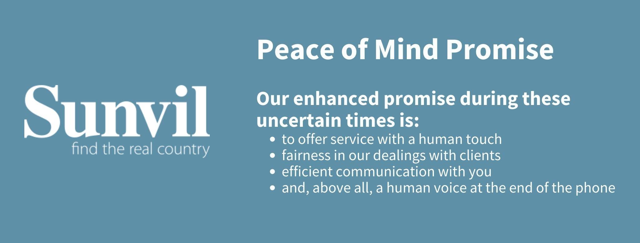 Peace of mind promise