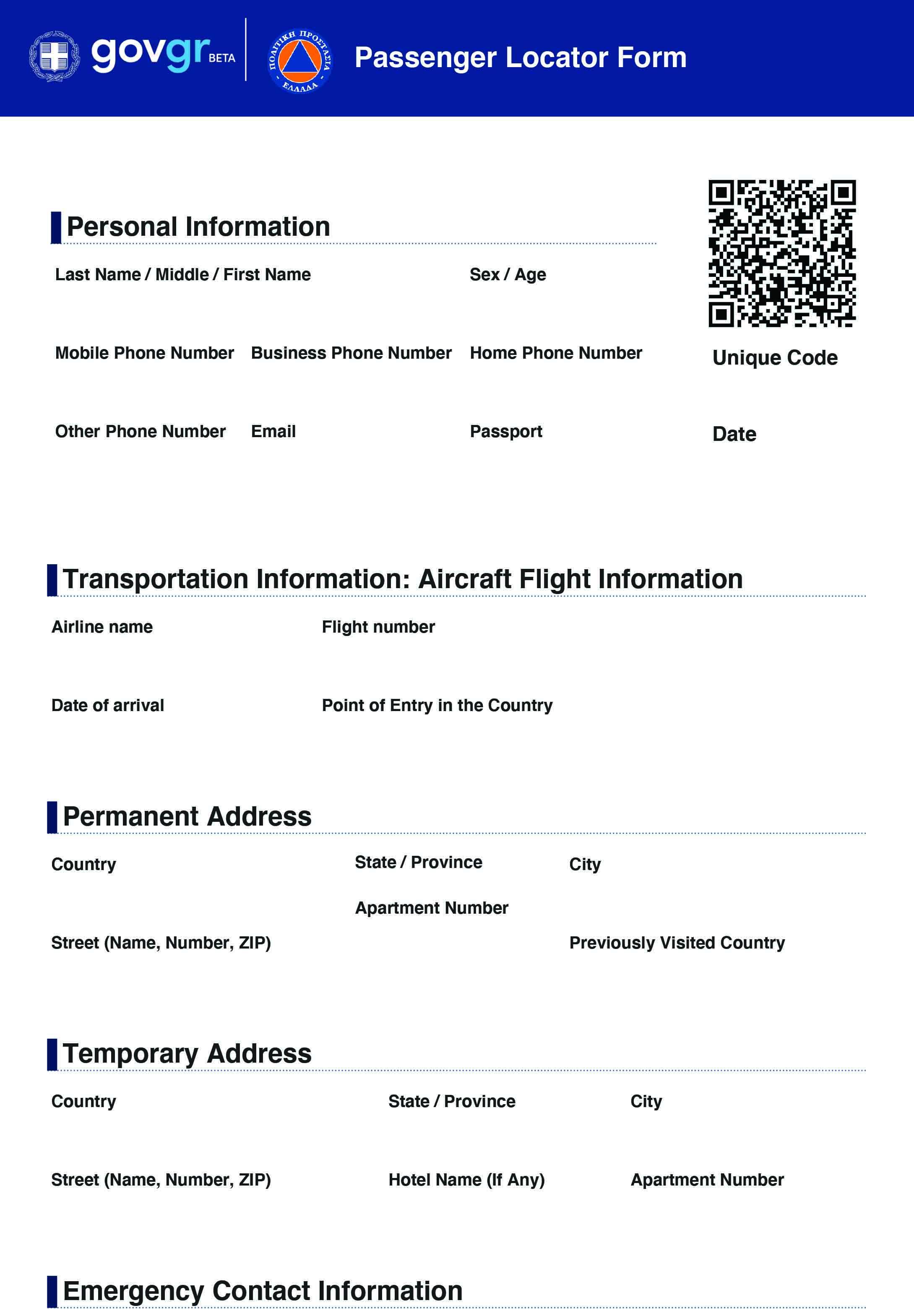 Passenger Locator Form   Latest news and advice