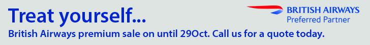 British Airways Premium Sale Banner